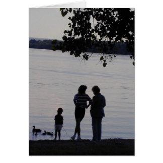 Familj Hälsningskort