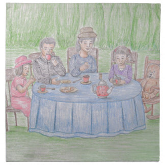 Familj Picnicn Tygservett
