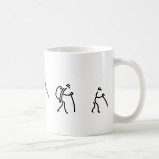 familj som fotvandrar koppen kaffemugg