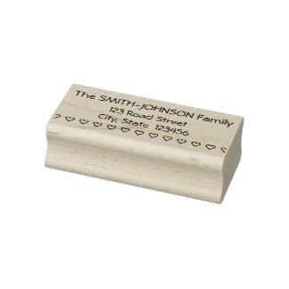Familjefternamn, adress, Rubber frimärke för Stämpel
