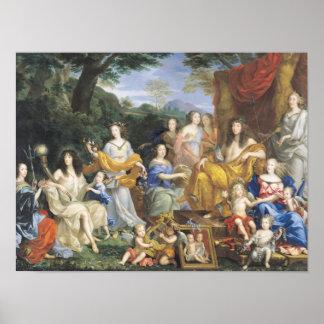 Familjen av Louis XIV 1670 2 Poster