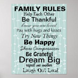 FAMILJEN HÄRSKAR, inspiration för en lycklig famil Poster