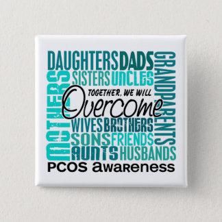 Familjen kvadrerar PCOS Standard Kanpp Fyrkantig 5.1 Cm