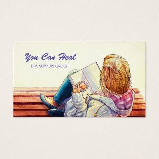 Familjevåldstödgrupplägerledare Visitkort