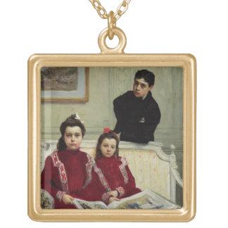 Familjporträtt av en pojke och hans två Syster, 19 Anpassningsbara Smycken