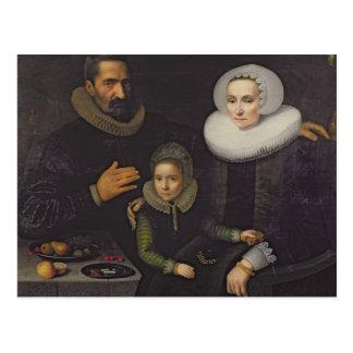Familjporträtt Vykort
