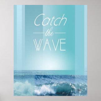 FÅNGA havblåtten för VINKA | Poster