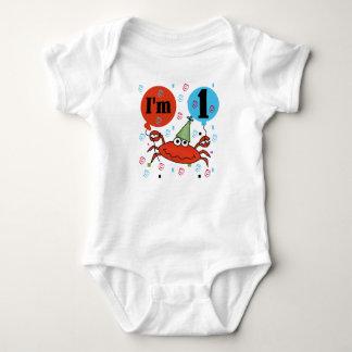 Fånga krabbor den 1st födelsedagen tee shirts
