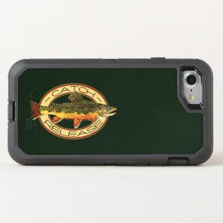 Fånga och frigör bäckforellfiske OtterBox defender iPhone 7 skal