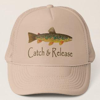 Fånga och frigör fiske truckerkeps