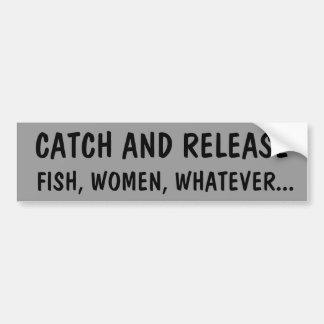 Fånga och frigör fisken eller kvinnor bildekal