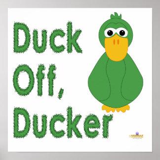 Fånig grön ankaanka av, Ducker Print