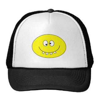 Fånig Smiley med dåligatänder på hatten Keps