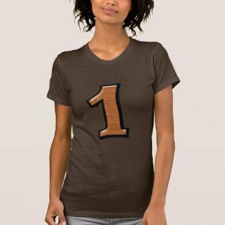 Fåniget numrerar damer för 1 choklad T-tröja Tröjor