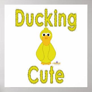 Fånigt gult ducka för anka som är gulligt posters