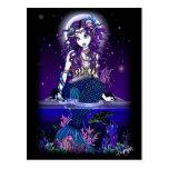 Fantasi för sjöjungfru för Uxia vykort gotisk
