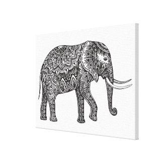 Fantasielefantklotter 6 canvastryck