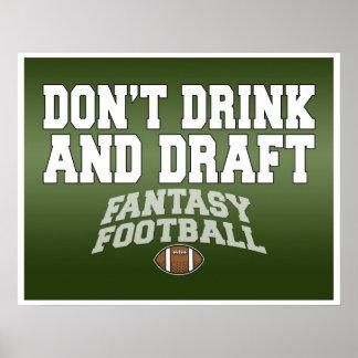 Fantasifotboll - dricka inte och formulera poster
