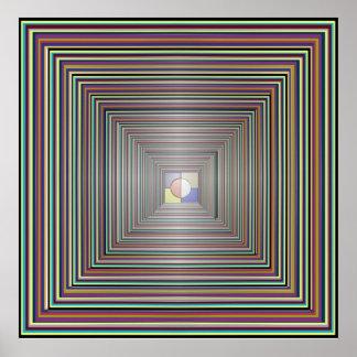Fantasitunnelen - kvadrera Manadala Poster