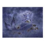 Fantasivykort - mörk sjöjungfru vykort