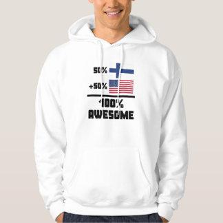 Fantastisk 100% för amerikan för 50% finska 50% sweatshirt med luva