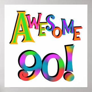 Fantastisk 90 födelsedagT-tröja och Gifs Poster