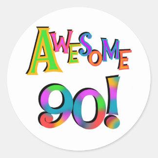 Fantastisk 90 födelsedagT-tröja och Gifs Runt Klistermärke