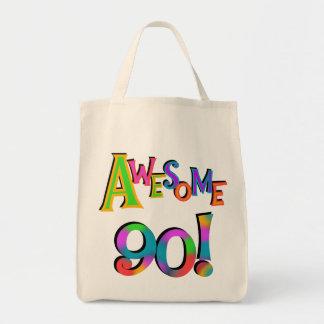 Fantastisk 90 födelsedagT-tröja och Gifs Mat Tygkasse