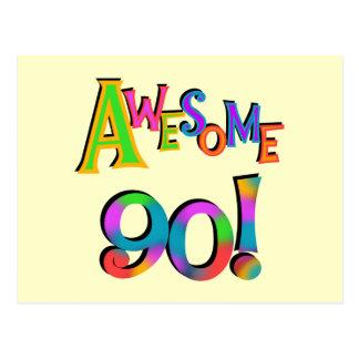 Fantastisk 90 födelsedagT-tröja och Gifs Vykort