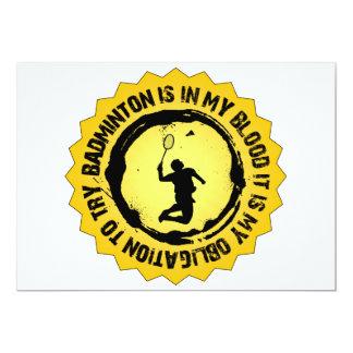 Fantastisk Badminton förseglar 12,7 X 17,8 Cm Inbjudningskort
