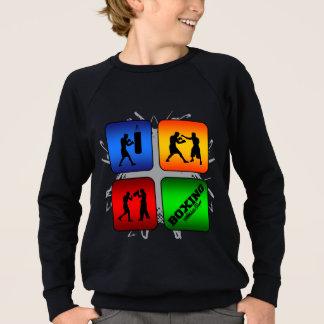 Fantastisk boxas stads- stil t-shirts