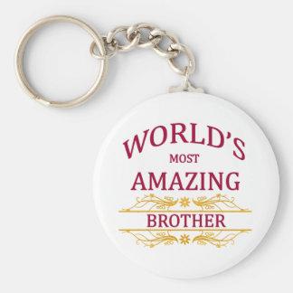 Fantastisk broder rund nyckelring