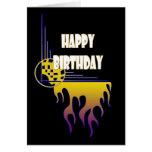 Fantastisk flammar födelsedagkortet kort