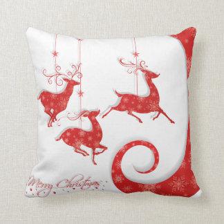 Fantastisk röd juldesign kudde