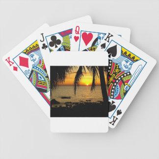 Fantastisk solnedgång på stranden spelkort