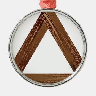 Fantastisk triangel 2 julgransprydnad metall