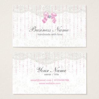fantastisk visitkort -, rosapilbåge, snöre