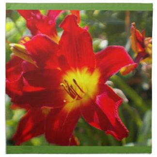 Fantastiska blommaservetter tygservett