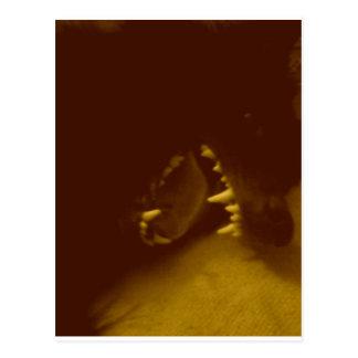 Fantastiska tänder av den belgiska herden vykort