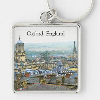Fantastiskt beskåda, Oxford, England, tak bästa #1 Fyrkantig Silverfärgad Nyckelring