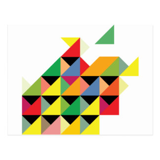 Fantastiskt hypnotiskt triangeltryck vykort