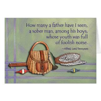 Far bland hans pojkar hälsningskort