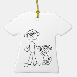 Far och dotter juldekoration