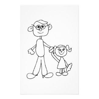 Far och dotter personligt brevpapper