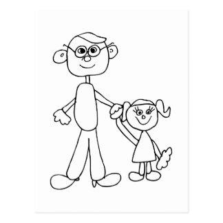 Far och dotter vykort