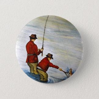 Far- och sonfiskeresa standard knapp rund 5.7 cm