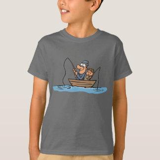 Far- och Sonfisketecknad T Shirt
