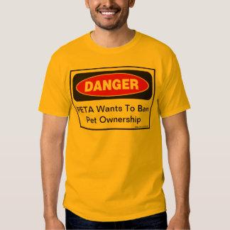 Fara: PETA önskar att förbjuda älsklings- Tshirts