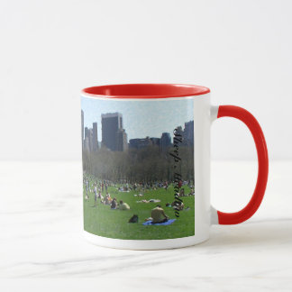 Fårängen i Central Park New York City Mugg