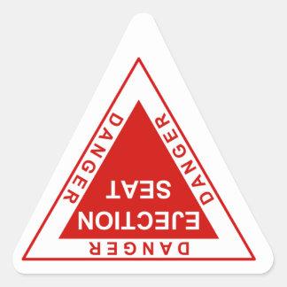 Farautskjutningen placerar triangelformat klistermärke